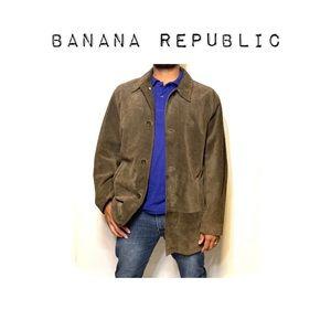 Banana Republic Suede bomber style jacket